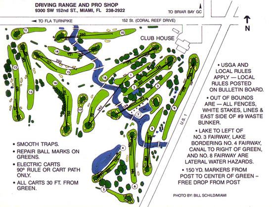 Palmetto Golf Course layout