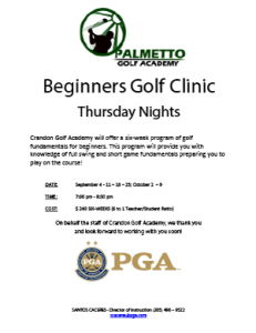 Beginners Golf Clinic