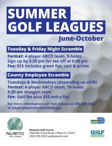 Summer Golf Leagues